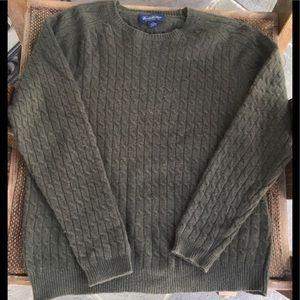 Brooks Brothers Olive Green Crewneck Sweatshirt L
